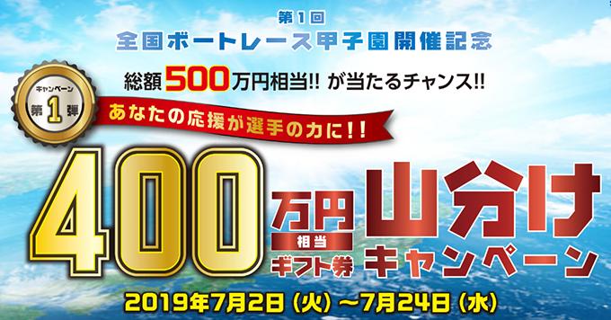 400万円相当ギフト券山分けキャンペーン